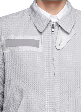 细节 - 点击放大 - SACAI - 混棉方格拉链外套