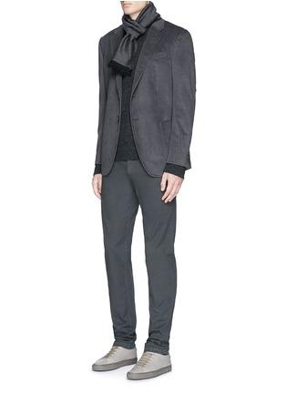模特儿示范图 - 点击放大 - JAMES PERSE - V领羊绒针织衫