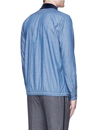 背面 - 点击放大 - SACAI - 绒面衣领纯棉丹宁衬衫