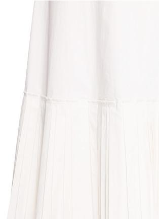细节 - 点击放大 - THEORY - MINKAR百褶拼接府绸吊带连衣裙