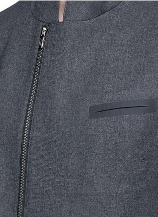 细节 - 点击放大 - ARMANI COLLEZIONI - 拼色两用领外套