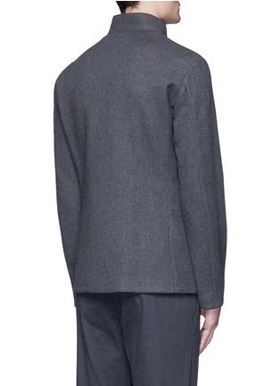 背面 - 点击放大 - ARMANI COLLEZIONI - 拼色两用领外套