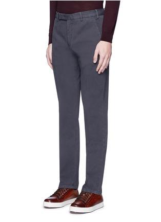 正面 -点击放大 - ARMANI COLLEZIONI - 单色斜纹棉布长裤