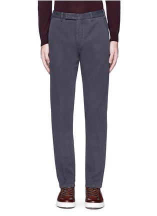 首图 - 点击放大 - ARMANI COLLEZIONI - 单色斜纹棉布长裤