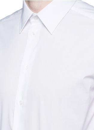 细节 - 点击放大 - ARMANI COLLEZIONI - 单色混棉府绸衬衫