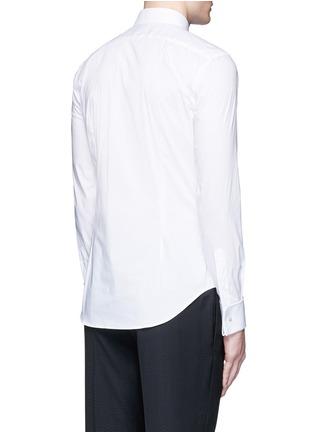 背面 - 点击放大 - ARMANI COLLEZIONI - 单色混棉府绸衬衫