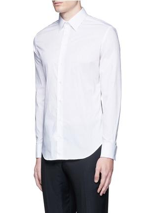 正面 -点击放大 - ARMANI COLLEZIONI - 单色混棉府绸衬衫