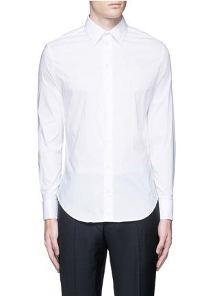 首图 - 点击放大 - ARMANI COLLEZIONI - 单色混棉府绸衬衫