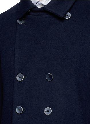 细节 - 点击放大 - ARMANI COLLEZIONI - 双排扣混羊毛外套