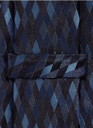 细节 - 点击放大 - ARMANI COLLEZIONI - 菱格纹提花真丝领带