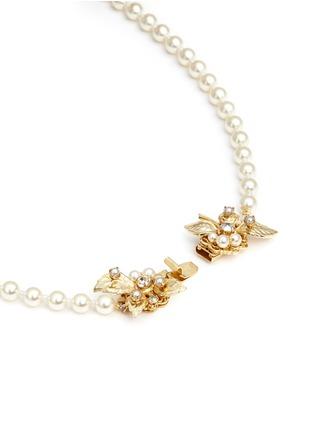 细节 - 点击放大 - MIRIAM HASKELL - 叶子插扣玻璃珍珠项链