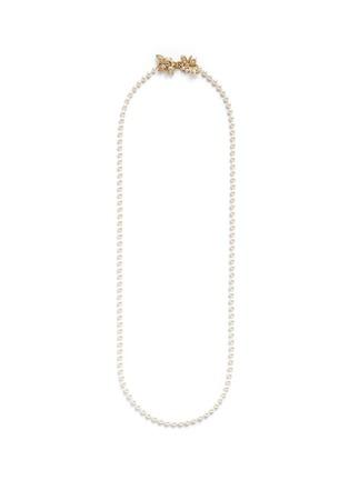 首图 - 点击放大 - MIRIAM HASKELL - 叶子插扣玻璃珍珠项链