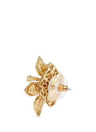 细节 - 点击放大 - MIRIAM HASKELL - 叶片造型玻璃珍珠耳环