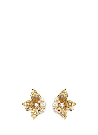 首图 - 点击放大 - MIRIAM HASKELL - 叶片造型玻璃珍珠耳环