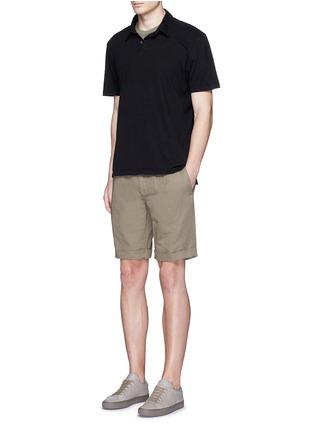 模特儿示范图 - 点击放大 - JAMES PERSE - 皮马棉polo衫