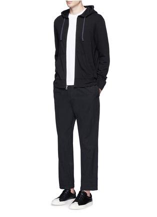 模特儿示范图 - 点击放大 - JAMES PERSE - 皮马棉连帽外套