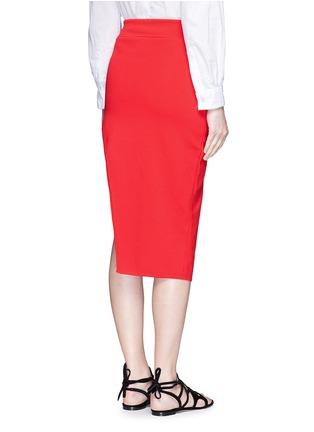 背面 - 点击放大 - NICHOLAS - 斜裁双层弧形针织半身裙