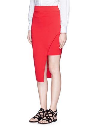 正面 - 点击放大 - NICHOLAS - 斜裁双层弧形针织半身裙