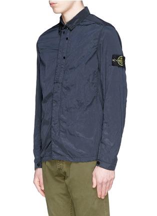 正面 -点击放大 - STONE ISLAND - 皱褶感尼龙衬衫式外套