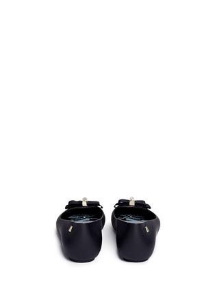 背面 - 点击放大 - MELISSA - X JASON WU罗纹蝴蝶结装饰PVC平底鞋