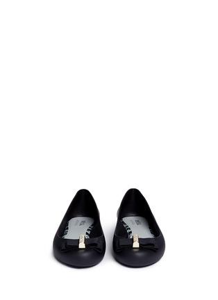 正面 -点击放大 - MELISSA - X JASON WU罗纹蝴蝶结装饰PVC平底鞋