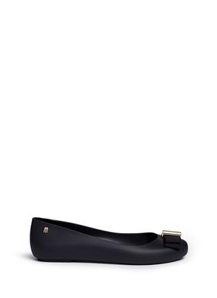 首图 - 点击放大 - MELISSA - X JASON WU罗纹蝴蝶结装饰PVC平底鞋