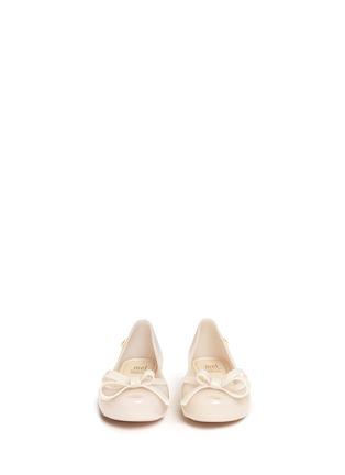 模特示范图 - 点击放大 - MELISSA - ULTRAGIRL儿童款蝴蝶结PVC平底鞋