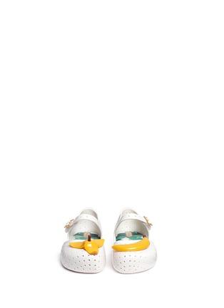 模特儿示范图 - 点击放大 - MELISSA - FURADINHA IX幼儿款香蕉装饰PVC平底鞋