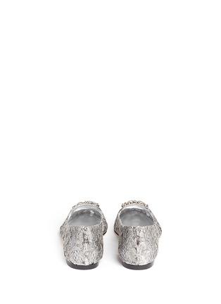 背面 - 点击放大 - DOLCE & GABBANA - 仿水晶装饰蕾丝乐福鞋