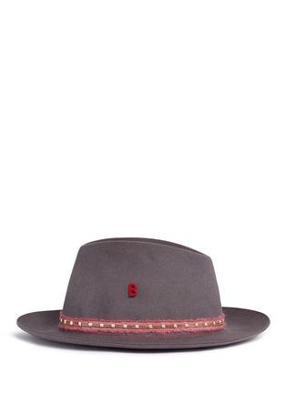 模特儿示范图 - 点击放大 - MY BOB - TRIBECA LIGHT链条星星兔毛毡软呢帽