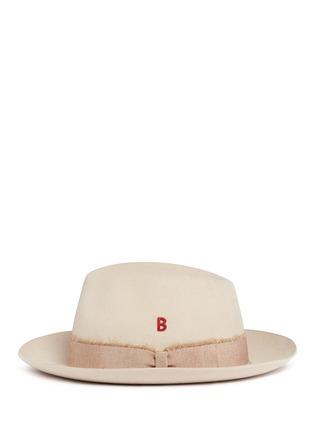 模特儿示范图 - 点击放大 - MY BOB - TRIBECA兔毛毡搭带软呢帽