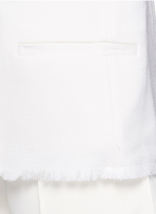 细节 - 点击放大 - MO&CO. EDITION 10 - 皱感边饰羊毛西服外套