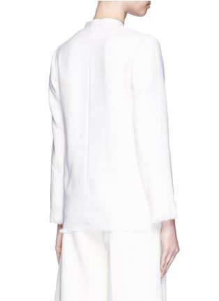 背面 - 点击放大 - MO&CO. EDITION 10 - 皱感边饰羊毛西服外套
