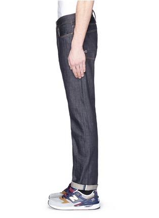细节 - 点击放大 - DENHAM - RAZOR条纹锁边修身牛仔裤