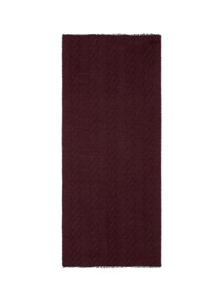 首图 - 点击放大 - ARMANI COLLEZIONI - 条纹设计混羊毛围巾