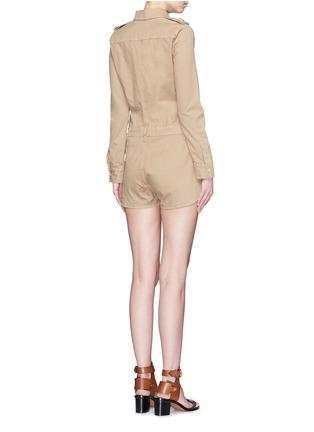 背面 - 点击放大 - FRAME DENIM - 翻领棉质连体短裤