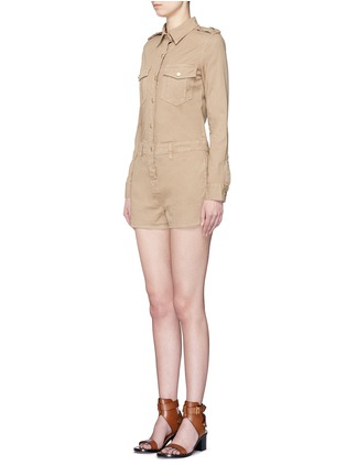 正面 - 点击放大 - FRAME DENIM - 翻领棉质连体短裤