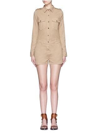 首图 - 点击放大 - FRAME DENIM - 翻领棉质连体短裤