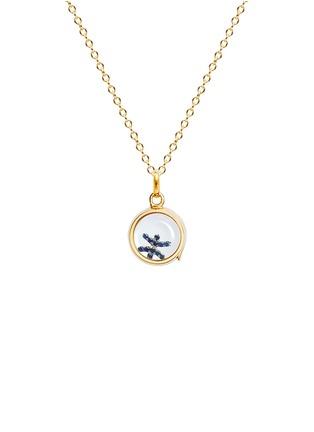 模特儿示范图 - 点击放大 - LOQUET LONDON - 18K白金镶宝石星座缀饰-双鱼座