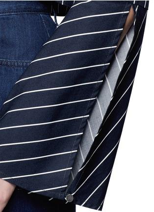 细节 - 点击放大 - NICHOLAS - 短款条纹蝴蝶结饰上衣