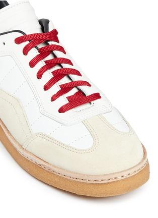 细节 - 点击放大 - alexanderwang - EDEN拼接设计真皮平底便鞋
