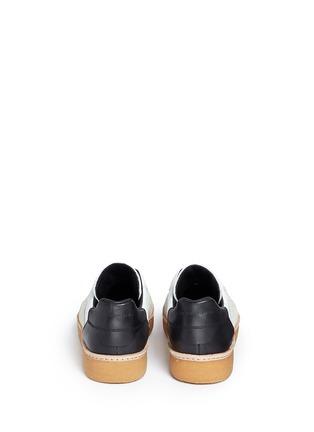 背面 - 点击放大 - alexanderwang - EDEN拼接设计真皮平底便鞋