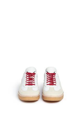 正面 -点击放大 - alexanderwang - EDEN拼接设计真皮平底便鞋