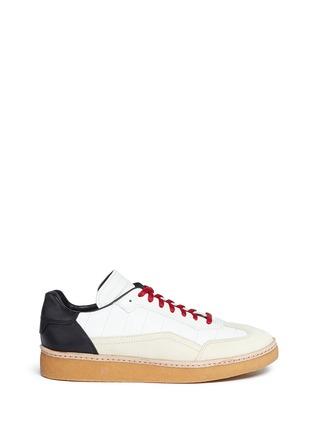 首图 - 点击放大 - alexanderwang - EDEN拼接设计真皮平底便鞋