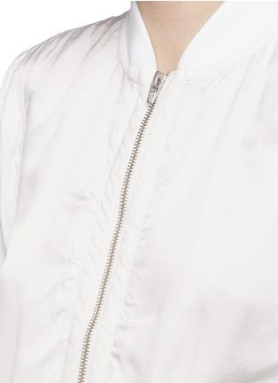 细节 - 点击放大 - T BY ALEXANDER WANG - 单色斜纹面料棒球夹克