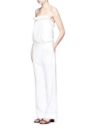 模特示范图 - 点击放大 - TIBI - 工装款皱感长裤