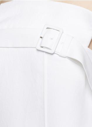 细节 - 点击放大 - TIBI - 层叠开衩皱感露肩上衣