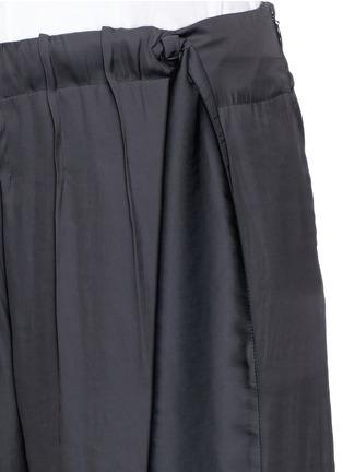 细节 - 点击放大 - CÉDRIC CHARLIER - 系带装饰皱褶阔腿裤