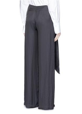 背面 - 点击放大 - CÉDRIC CHARLIER - 系带装饰皱褶阔腿裤