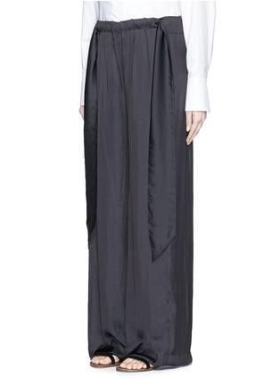 正面 - 点击放大 - CÉDRIC CHARLIER - 系带装饰皱褶阔腿裤